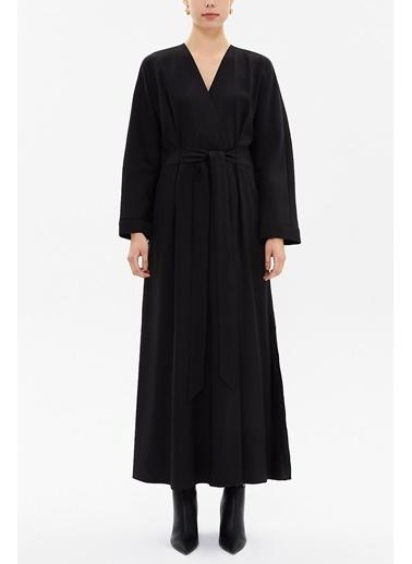 Societa Yırtmaçlı Uzun Elbise 92895 Siyah